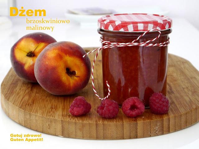 Dżem brzoskwiniowo - malinowy, bez cukru - Czytaj więcej »