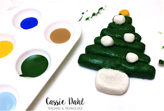 These Christmas Tree ornaments are super easy to make in the classroom and they turn out absolutely beautiful! They require only a few ingredients that you probably have in your house already!