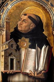 A portrait of Saint Thomas Aquinas by the Italian artist Carlo Crivelli
