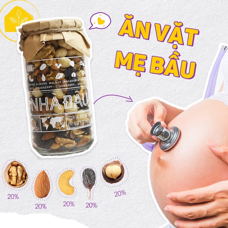 [A36] Mixnuts 5 loại hạt giúp Mẹ Bầu giảm ốm nghén