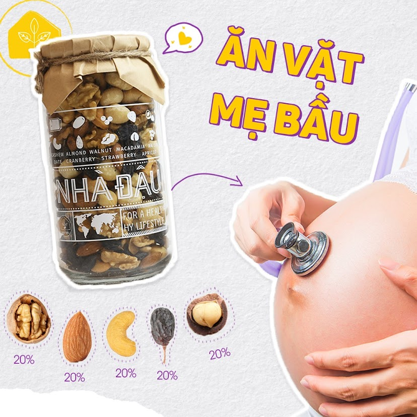 Mixnuts 5 loại hạt giúp thai phụ đủ dưỡng chất