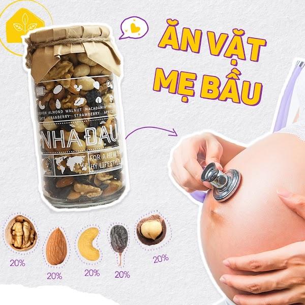 Mix hạt dinh dưỡng Mẹ Bầu nên ăn để thai nhi thông minh