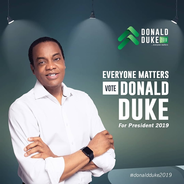 Donald Duke releases 2019 campaign posters
