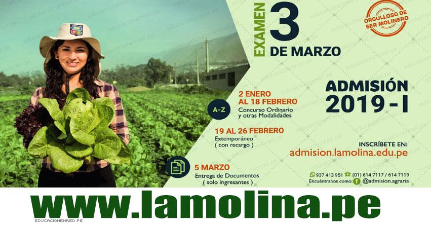 Resultados UNALM 2019-1 (3 Marzo) Lista de Ingresantes - Examen Admisión - Universidad Nacional Agraria La Molina - www.lamolina.edu.pe
