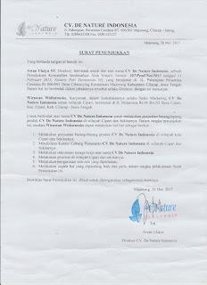 Situs Resmi De Nature Indonesia