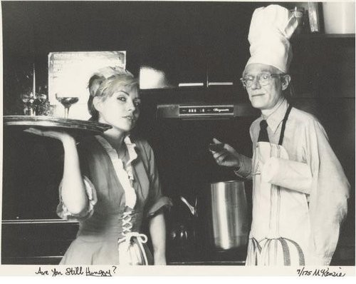 Debbie and Andy Warhol