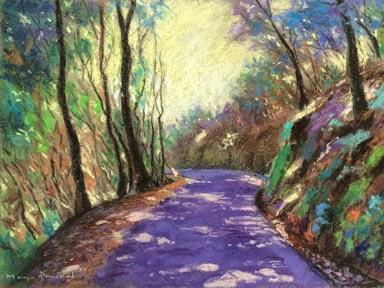 Original soft pastel landscape painting by Manju Panchal