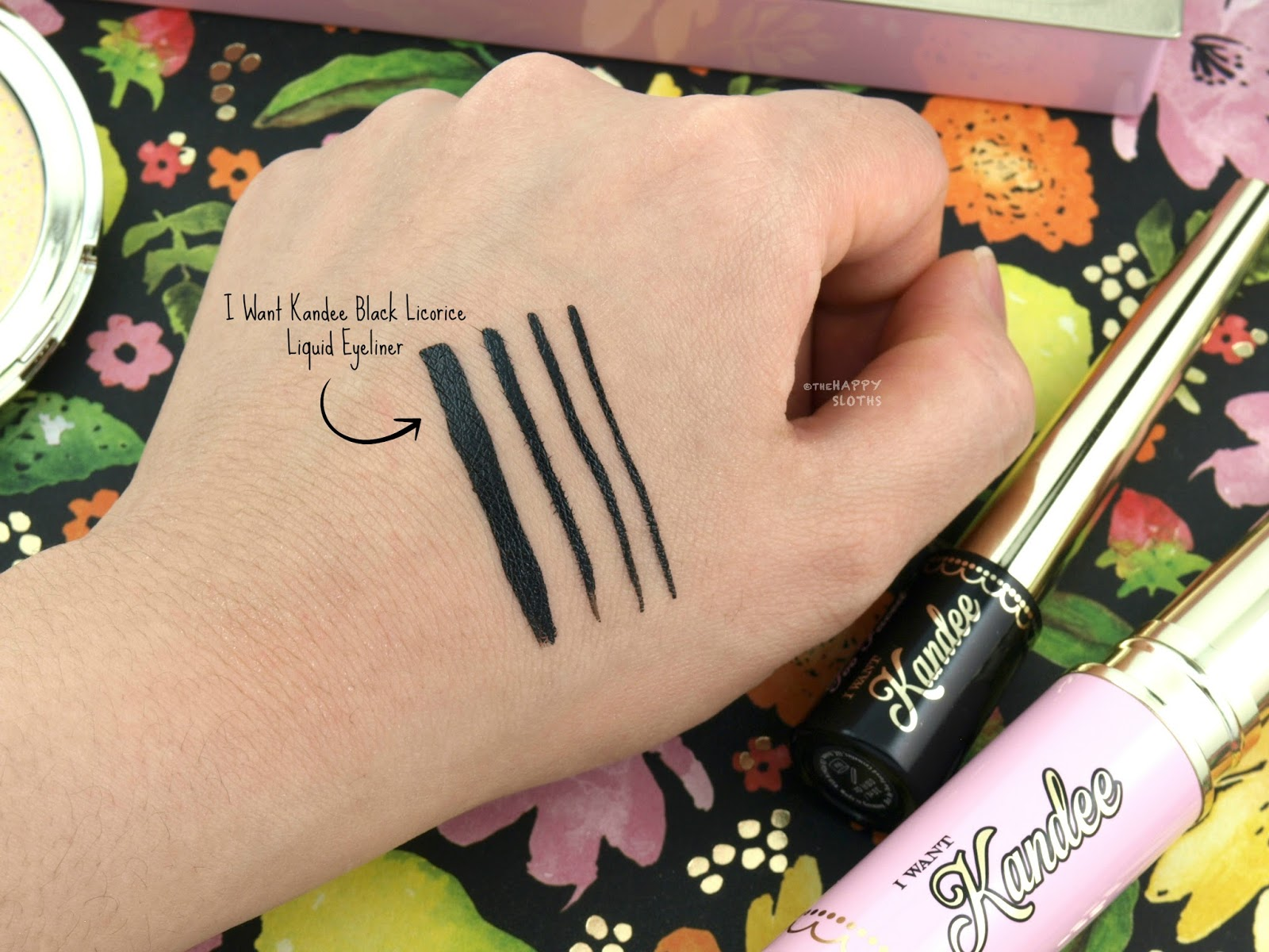 Too Faced x Kandee Johnson | I Want Kandee Candy Liner Black Licorice Liquid Eyeliner: Review and Swatches