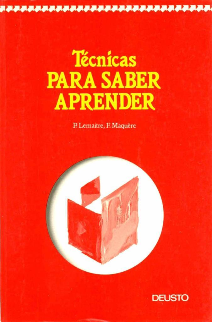 Técnicas para saber aprender – Pierre Lemaitre
