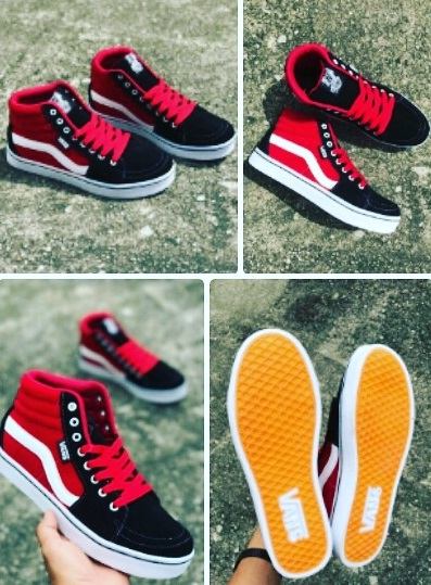 666e92b4a79 Vans Oldskool High Cut Black Red
