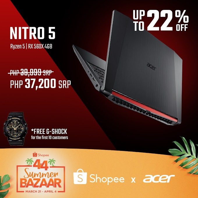 Acer Exclusive Deals for Shopee 4.4 Summer Bazaar