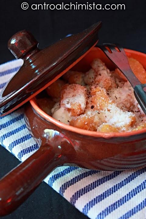 Gnocchi di Zucca al Balsamico di Modena e Crema di Asiago