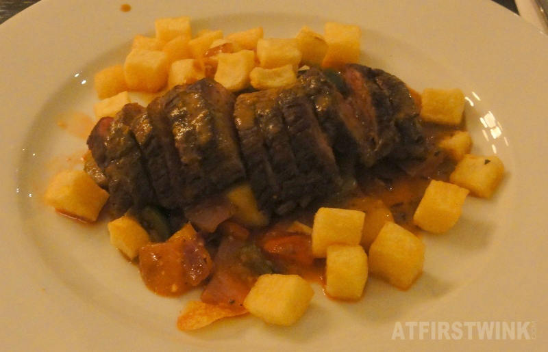 Diamanthaas (medium) met ratatouille, pommes carres en Dyon mosterdsaus | Restaurant Rodin Rotterdam