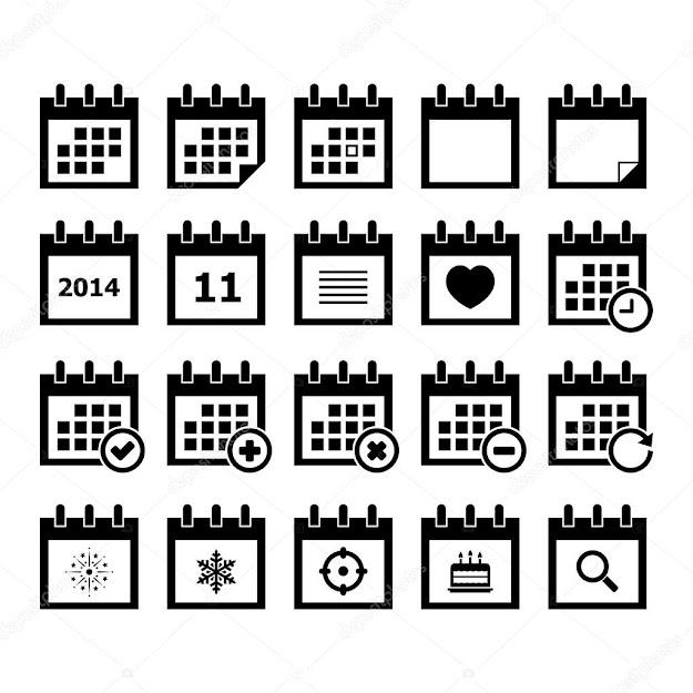 Calendar Vector Set For Your Design  Vector By Tzubasaz