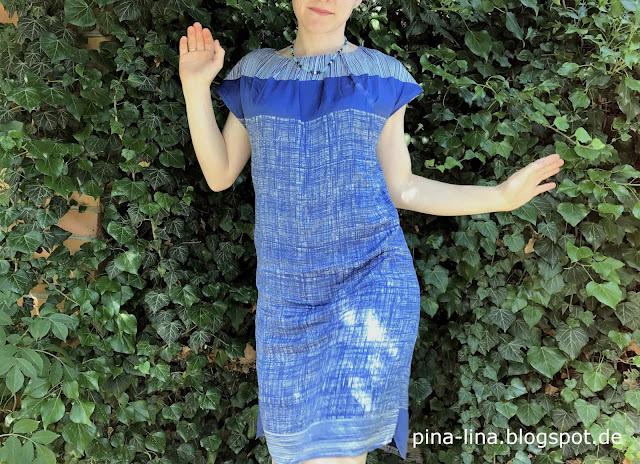 Raffiniertes Kleid aus der Burda, einfach zu nähen.