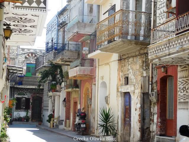 średniowieczna ulica, Pyrgi, Chios, Grecja