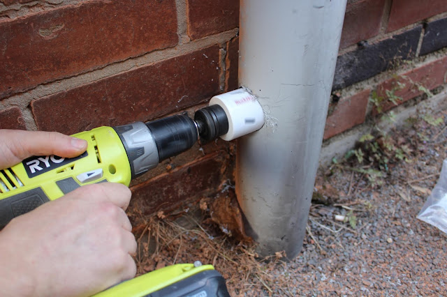 drilling into soil pipe