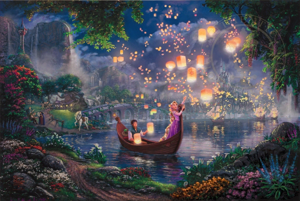 11-Tangled-Thomas-Kinkade-Walt-Disney-Stories-Seen-Through-Paintings-www-designstack-co