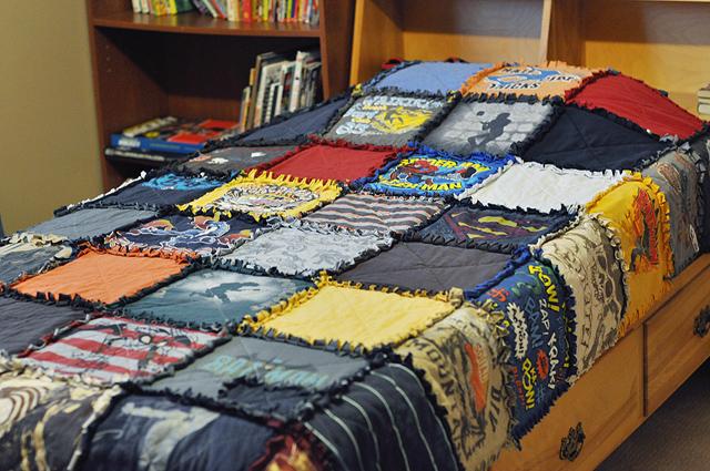 Making T Shirt Quilt