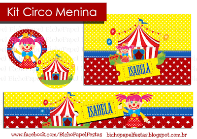 Kit Festa Circo Menina