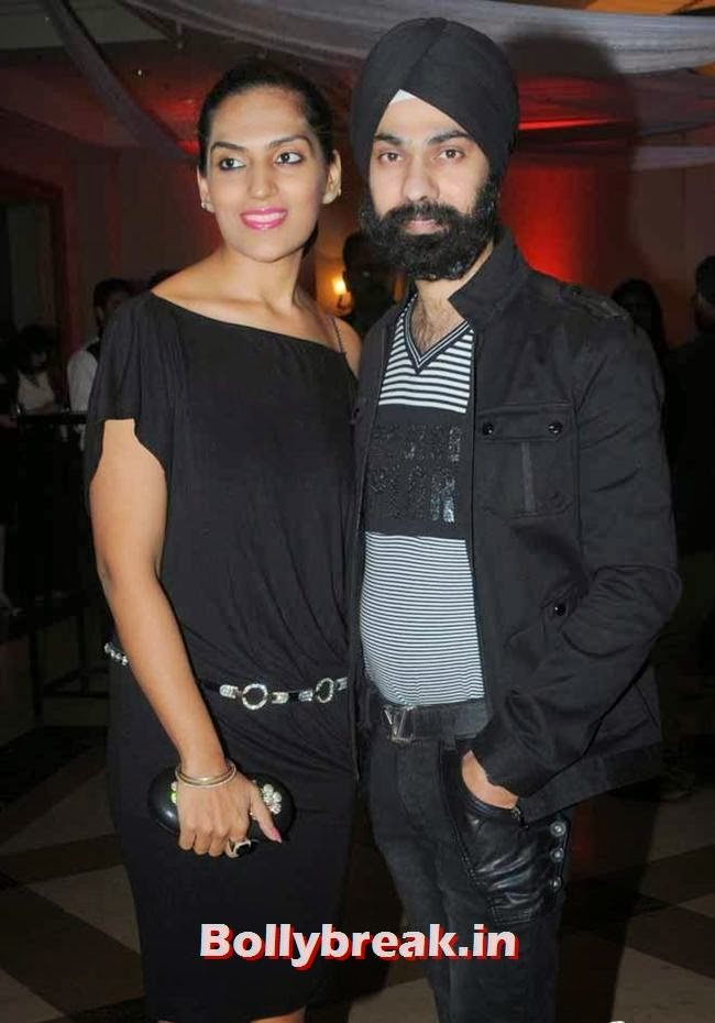 Fashion designer AD Singh along with his wife Puneet
