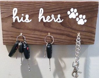 His Hers Pet Distressed Wood Sign.