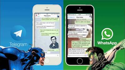 6 Perbezaan Diantara Aplikasi WhatsApp Dan Telegram