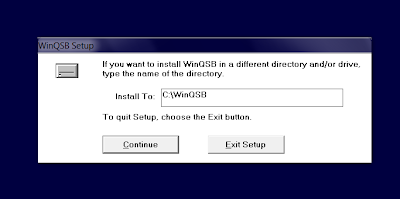 Download WinQSB and install winqsb on windows 8