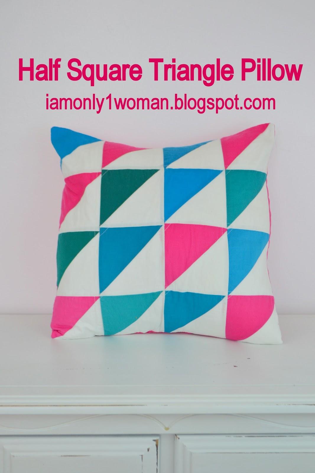 half square triangle pillow