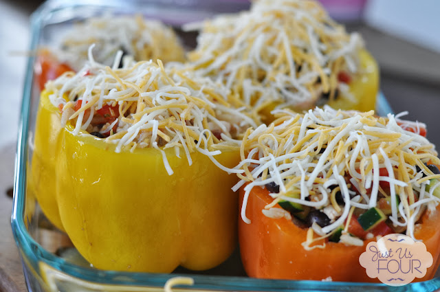 Chicken Enchilada Stuffed Pepper Cheese Topping