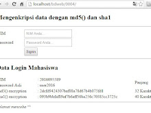Mengenkripsi Data Dengan MD5() dan SHA1()