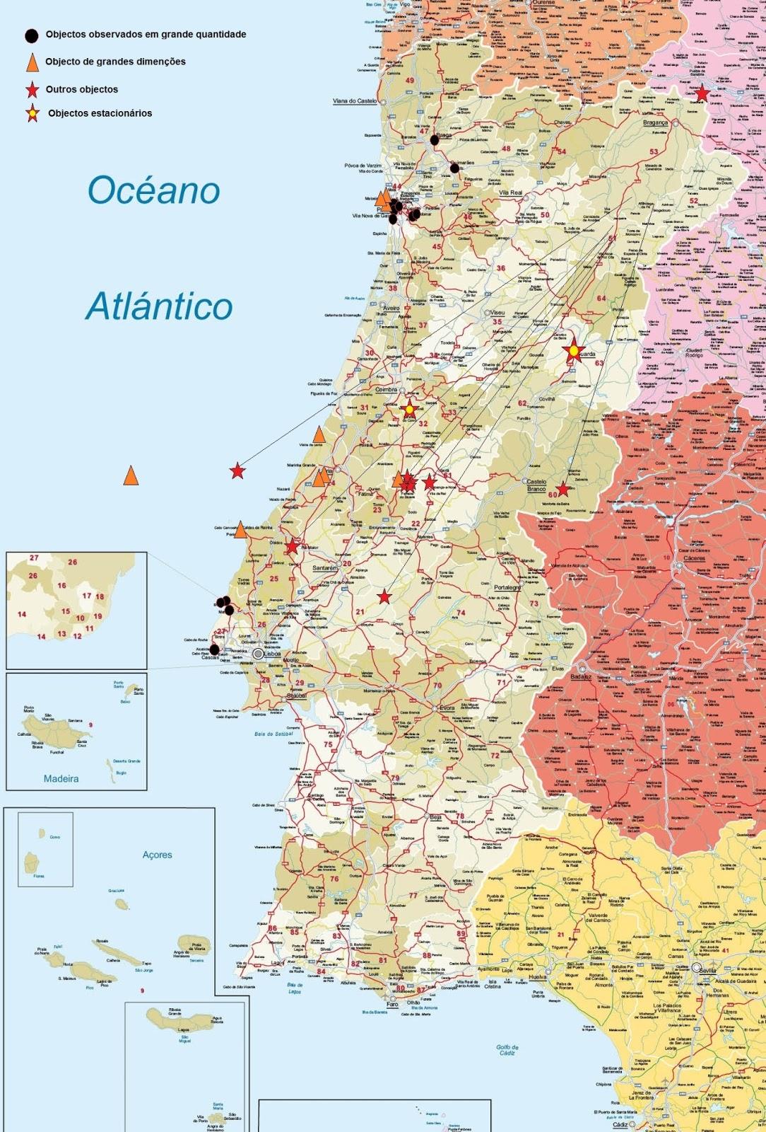 mapa de codigos postais portugal Ufo Portugal   Network: O regresso das luzes anómalas na noite do  mapa de codigos postais portugal