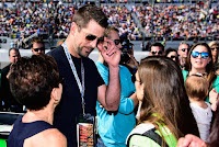 Aaron Rodgers and Danica Patrick at #NASCAR Daytona 500
