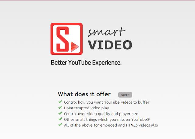 تسريع مشاهدة فيديوات اليوتيب عبر إضافة smartvideo for youtube