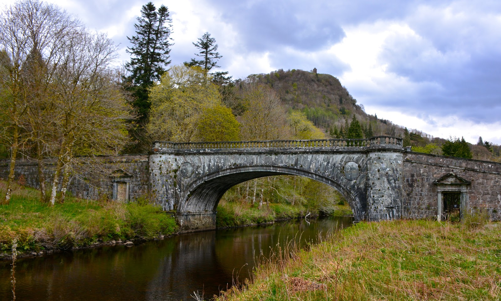 Bridge on the grounds of Inverary Castle in Argyll, Scotland
