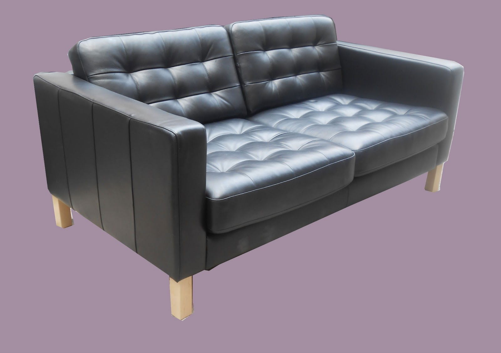 Stupendous Uhuru Furniture Collectibles Ikea Karlstad Black Leather Lamtechconsult Wood Chair Design Ideas Lamtechconsultcom