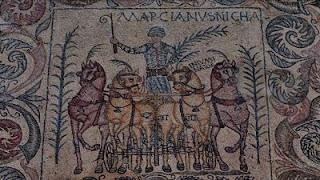 Mosaico de auriga romano