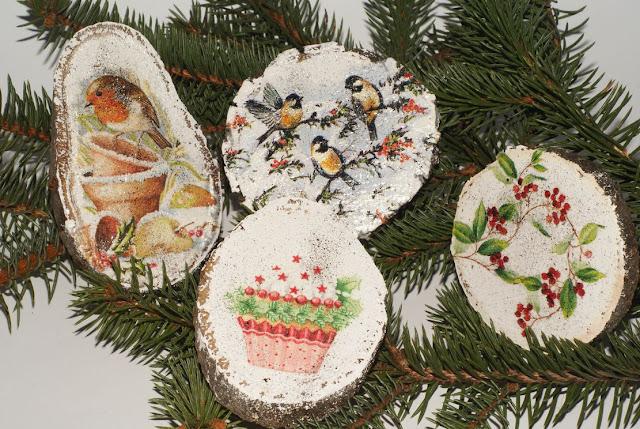 świąteczne dekoracje decoupage