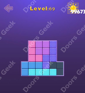 Cheats, Solutions, Walkthrough for Move Blocks Easy Level 69