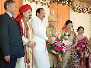 Venkaiah Naidu attends wedding of IAS lovebirds Tina Dabi and Aamir, shares pic