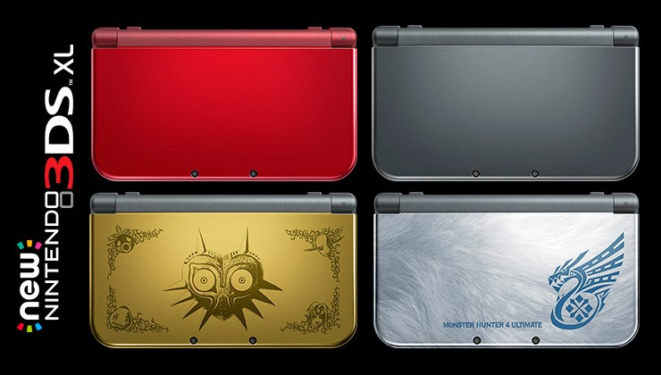 New Nintendo 3DS XL - North America release versions