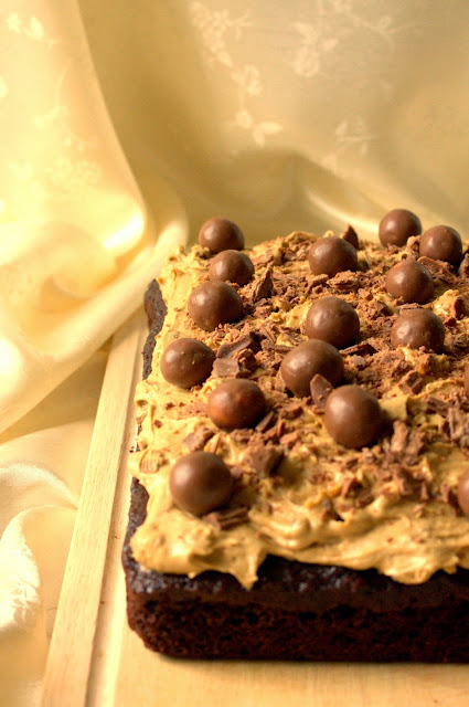 All in one Chocolate Traybake with Chocolate Chip Brown Sugar Cookie Dough Frosting