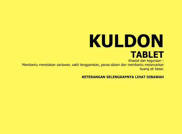 Tablet Herbal Kuldon, Membantu Meredakan Sariawan