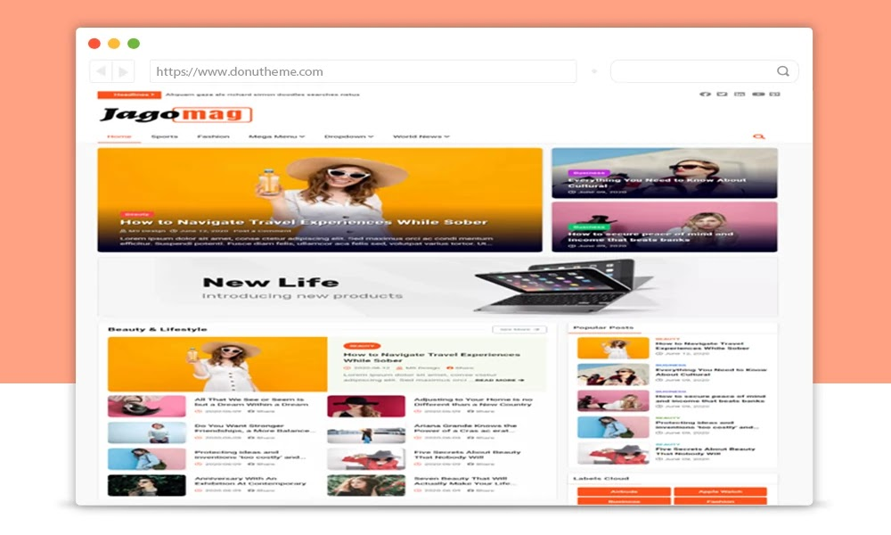 JagoMag Magazine Blogger Template