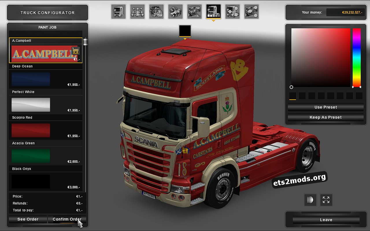 A.Campbell Skin for Scania RJL
