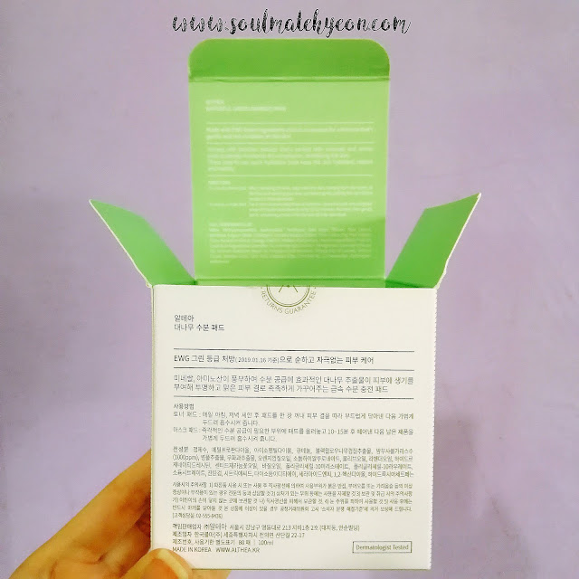 Review; Althea Korea's Waterful Green Bamboo Pads