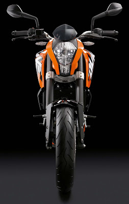 New up coming KTM Duke 125 front view image