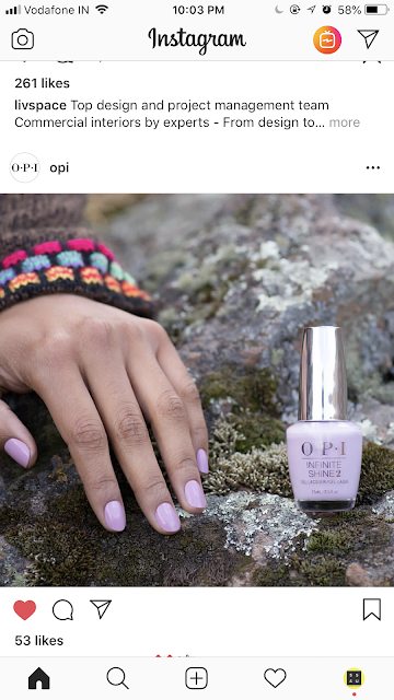 Shopping, Style and Us: India's Top Shopping and Self-Help Blog- OPI Instagram