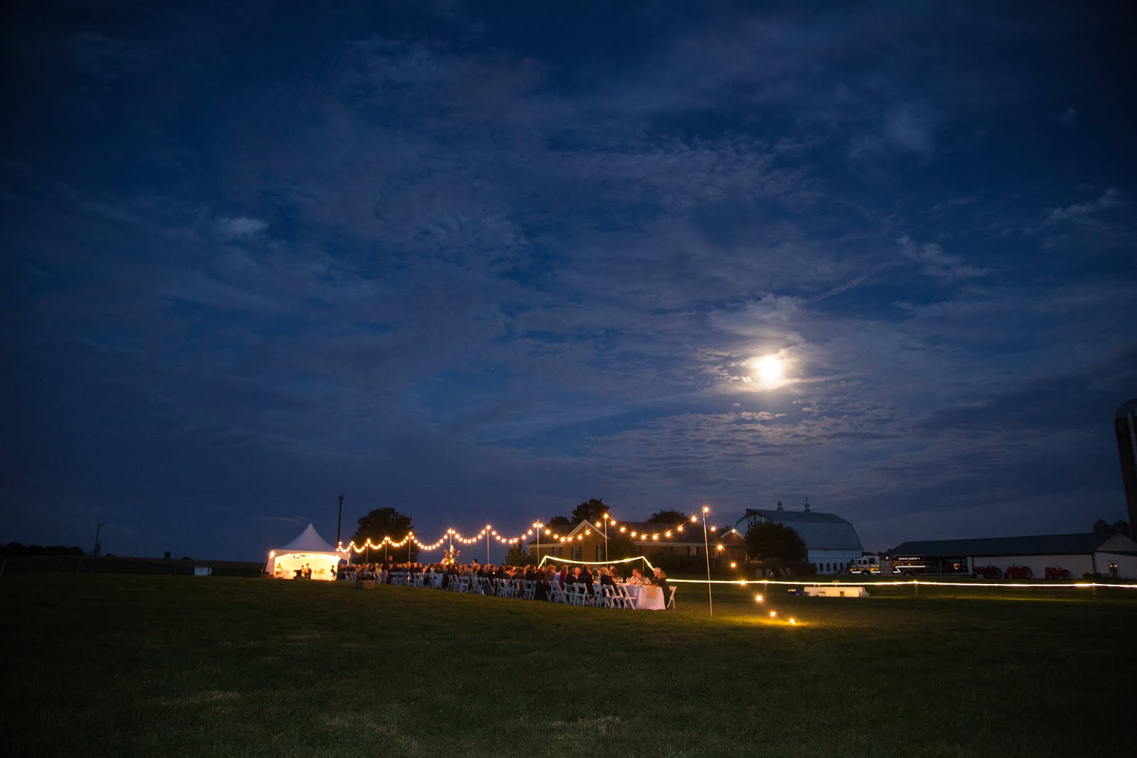 The phantom tent lights & moon light