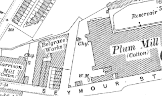 Belgrave Works, OS map, 1928.